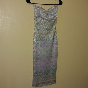 O-sher small strapless multicolored long dress